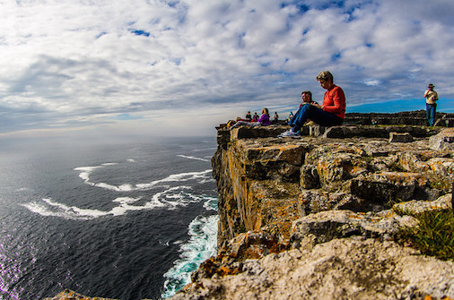 journaling in cliffs of moher
