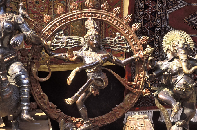 statue of shiva on location in South India