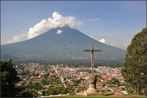 View of Antigua in Guatemala