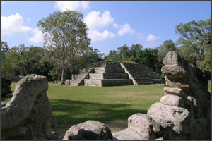Site of Copan in Guatemala